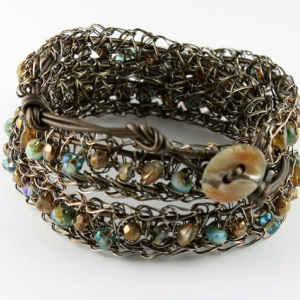 Crocheted wrap bracelets