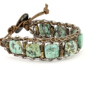 Narrow Matte African Turquoise Cuff